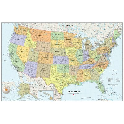 WallPops! USA Dry-Erase Map Wall Mural