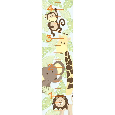 WallPops! Jungle Friends Growth Chart