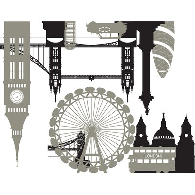 WallPops! London Calling Small Wall Art Kit