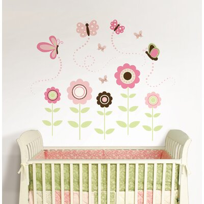 WallPops! Butterfly Garden Wall Art Kit