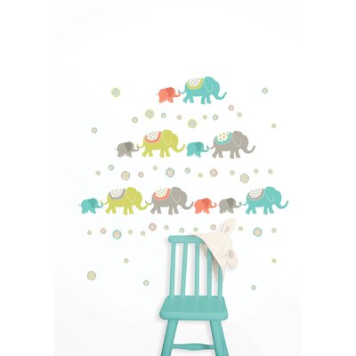 WallPops! Art Kit Tag Along Elephants Wall Decal