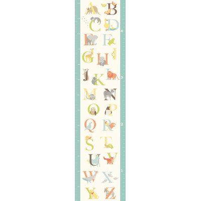 WallPops! Wall Art Kit ABC Jungle Growth Chart