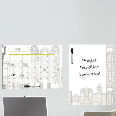 WallPops! Dry Erase Globe Trotter Message Board and Calendar Wall Decal