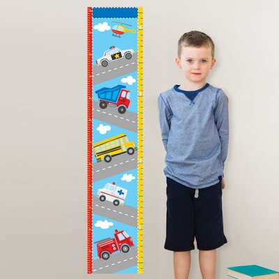 WallPops! Wall Art Transportation Growth Chart Wall Decal
