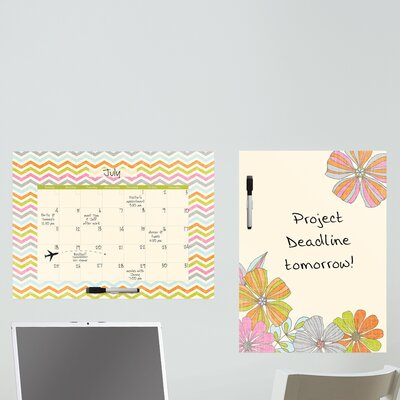 WallPops! Dry Erase St Tropez Message Board and Calendar Wall Decal