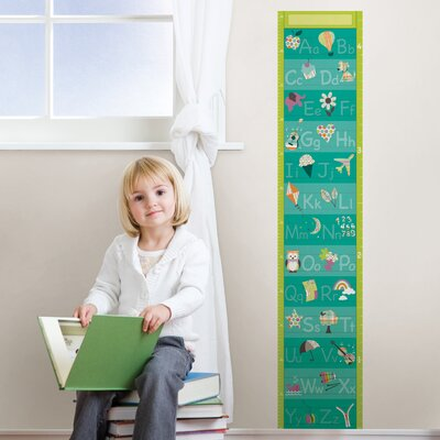 WallPops! Wall Art Alphabet Growth Chart Wall Decal