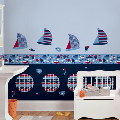 WallPops! Kids Regatta Decor Wall Decal Set