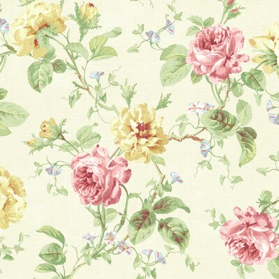 Brewster Home Fashions Willow Cottage Rose Trail Wallpaper