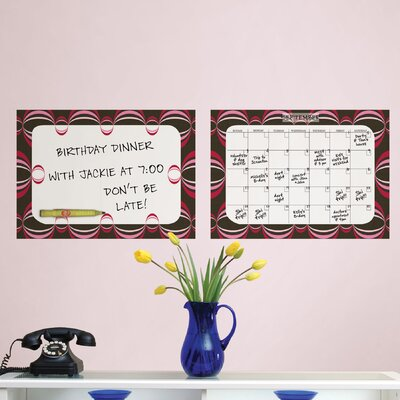 WallPops Dry-Erase Loopy Dry Erase Calendar Message Board Wall Decal Set