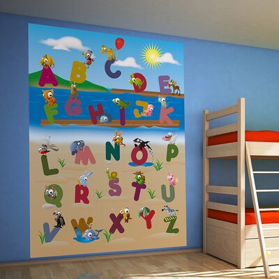 Ideal Décor Animal Alphabet Wall Mural