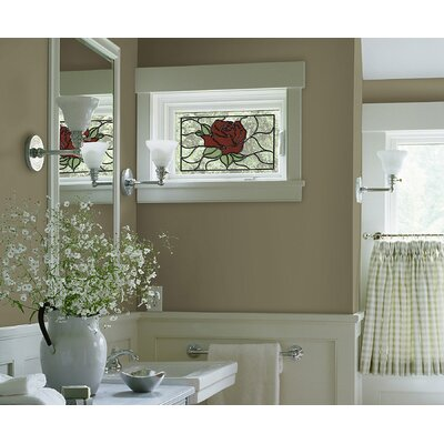 Brewster Home Fashions Rose Stained Glass Appliqué