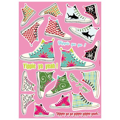 Brewster Home Fashions Komar Freestyle Sneakers Decals