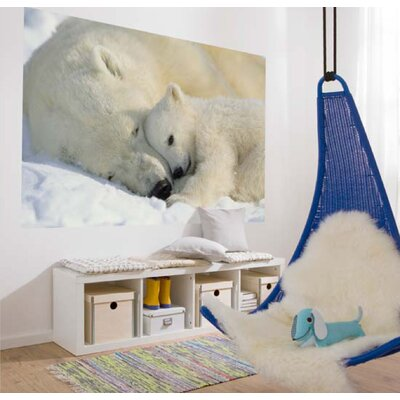 Brewster Home Fashions Komar Polar Bears 1-Panel Photomural