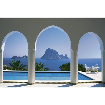 Komar Pool and Arches, Mallorca 8-Panel Photomural