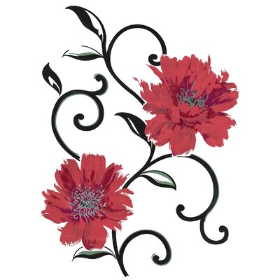 Spirit Red Flowers Decals