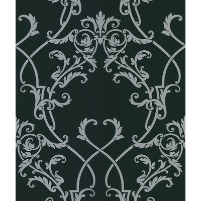 Brewster Home Fashions Ink Chandelier Wallpaper in Metallic Silver