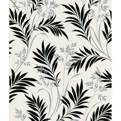 Brewster Home Fashions Ink Grass Wallpaper in White Background