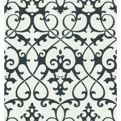 Brewster Home Fashions Ink Ironwork Trellis Wallpaper