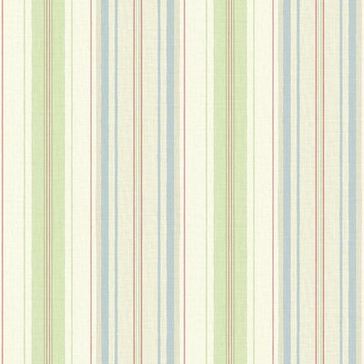 Willow Cottage Colorful Stripe Wallpaper