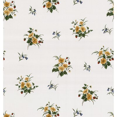 Brewster Home Fashions Kitchen and Bath Resource II Strawberry Floral Print Wallpaper