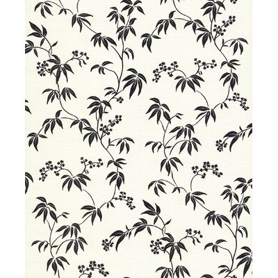 Brewster Home Fashions Kitchen and Bath Resource II Floral Silhouette Trail Wallpaper