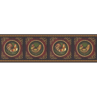 New Country Rooster Cameo Wall Border