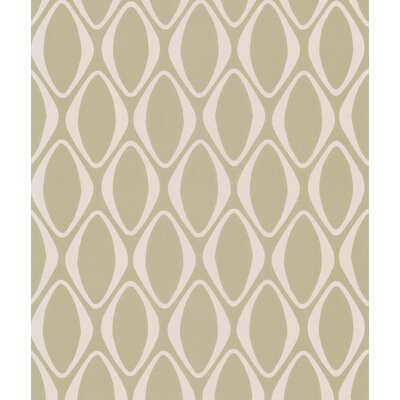 Echo Design Diamond Geometric Wallpaper in Beige Tonal