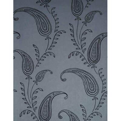 Verve Paisley Wallpaper in Espresso Brown