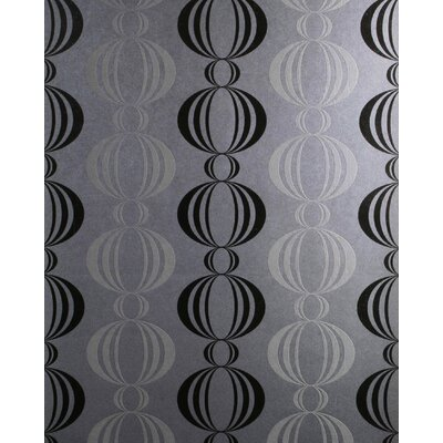 Verve Retro Orb Wallpaper in Tonal Black