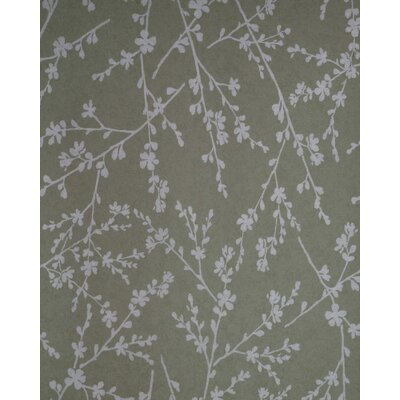 Verve Twiggy Wallpaper in Silver / Champagne Gold