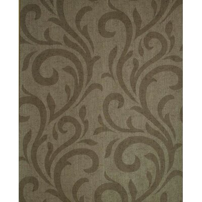 Verve Swirl Wallpaper in Tonal Coco Brown