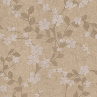 Brewster Home Fashions Salon Floral Trail Wallpaper in Montequilla Yellow