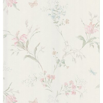 Mirage Signature V Butterfly Floral Trail Wallpaper in Pastel