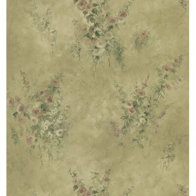 Brewster Home Fashions Mirage Signature V Floral Wallpaper in Deepening Gold