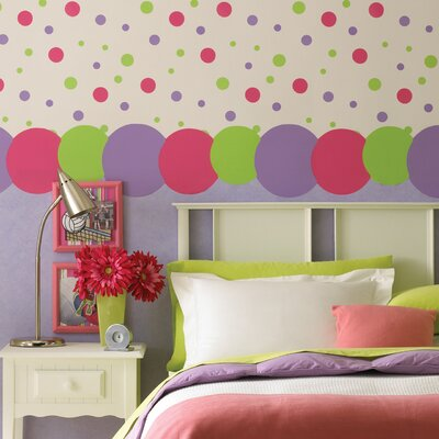 Kidding Around Polka Dot Wall Border