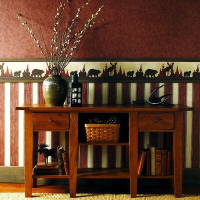Brewster Home Fashions Northwoods Tin Silhouette Wall Border in Earthy Tone