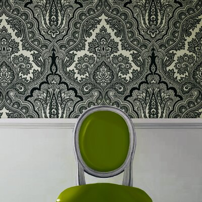Echo Design Modern Paisley Wallpaper in White