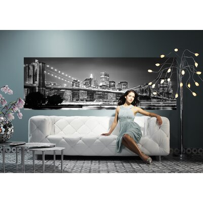 Brewster Home Fashions Komar Brooklyn Bridge Wall Mural