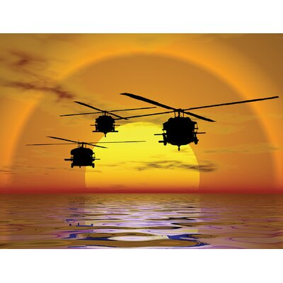 Phoenix Sunset Helicopter Wall Mural