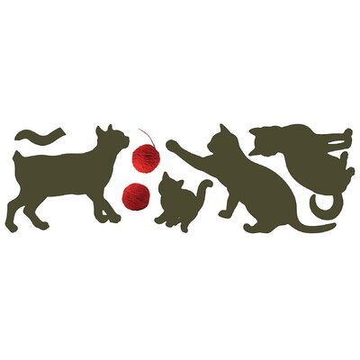 Brewster Home Fashions Euro Cats Wall Decal