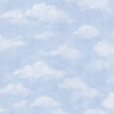 Brewster Home Fashions Kids World Azure Light Blue Sky Wallpaper