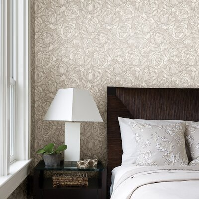 Brewster Home Fashions Zinc Calista Modern Rose Wallpaper
