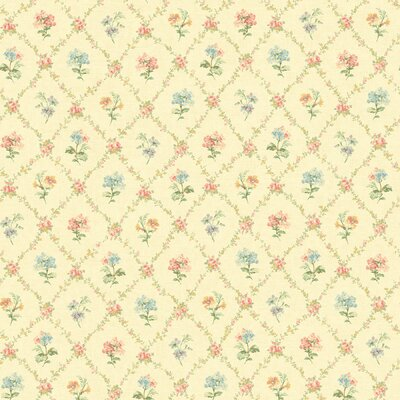 Brewster Home Fashions Springtime Cottage Mini Floral Trellis Wallpaper