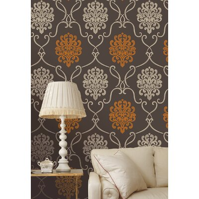 Accents Suzette Modern Damask Wallpaper