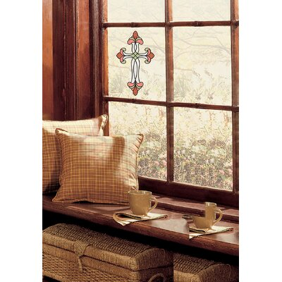 Peel and Stick Window Decor Cross Decals