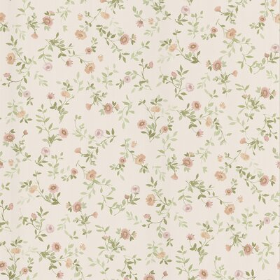Brewster Home Fashions Dollhouse Sophie Floral Toss Wallpaper