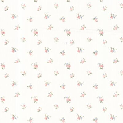 Dollhouse Debbie Small Rose Toss Wallpaper