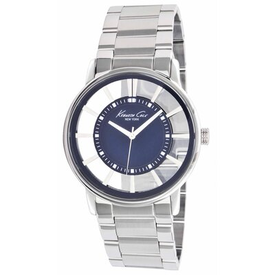 Kenneth Cole Men's Transparency Bracelets Watch in Blue Marine
