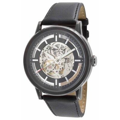 Kenneth Cole Men's Straps Automatics Round Watch in Gunmetal and Black