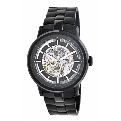 Kenneth Cole Men's Round Bracelets Watch in Black